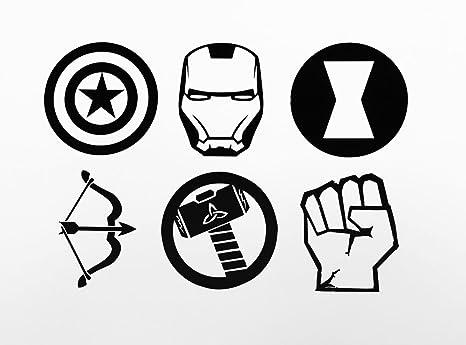 Amazon Avengers Decal Set Iron Man Captain America Thor