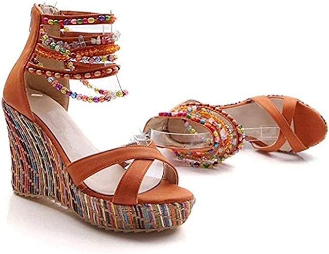 Women 11 43 Platform Size 4 34 Blue Wedge Shoes 10 42 Ultra Plus Elegant Round Toe High Heels