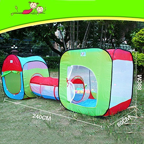 3 In 1 Children Play Tent Tunnel Play House - 3