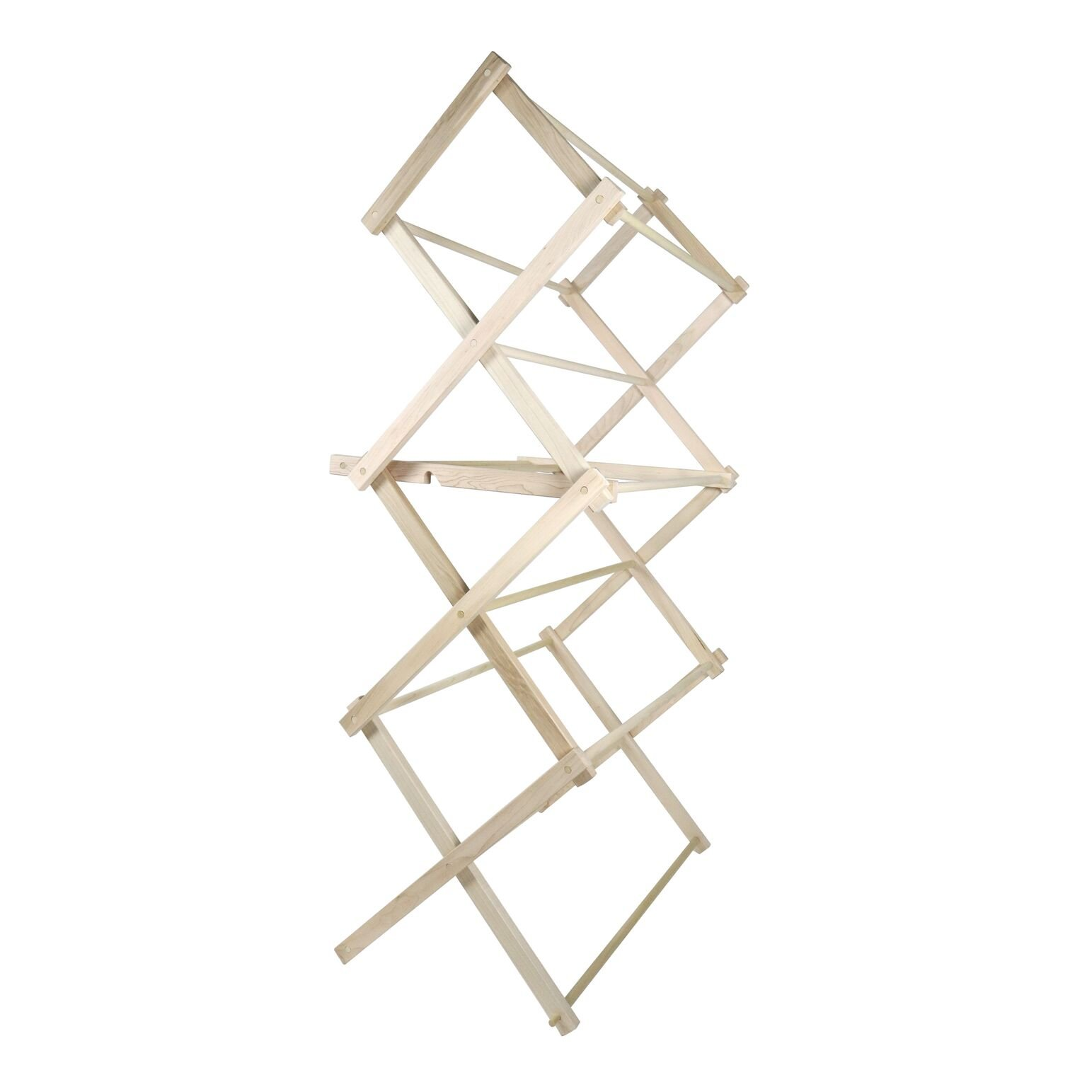 """LifeSong Milestones American Made Clothes Drying Rack Collapsible Folding Two Height Wooden Quilt Rack 36'' x 28'' x 7.5"""" 100% hardwood Made in the USA (36'') by LifeSong Milestones (Image #5)"""
