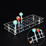 mengcore 25 hole acrylic cake pop lollipop display stand holder for weddings baby showers birthday parties - Halloween Cupcake Holder