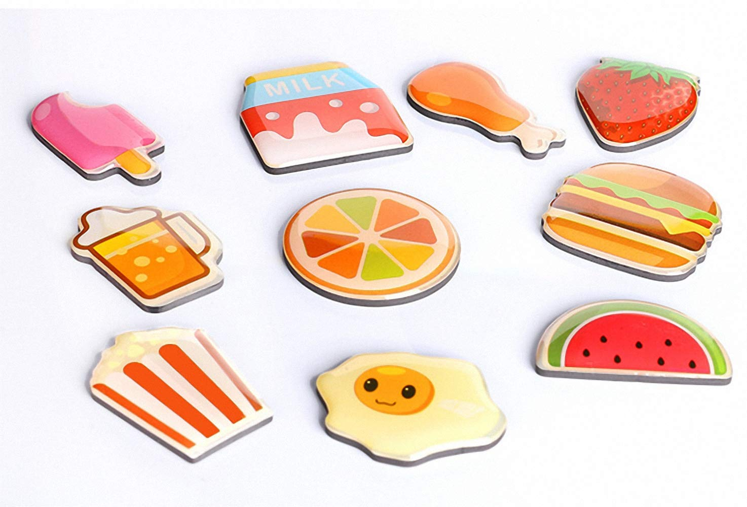 Imanes decorativos de resina para frutas, frutas, nevera, huevo de ...