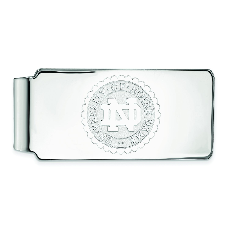 Logoart Sterling Silver University Of Notre Dame Crest Money Clip SS070UND