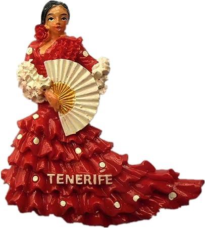 Imán para nevera, diseño de bailarín de flamenco en Andalucía España, resina 3D, imán para recuerdo