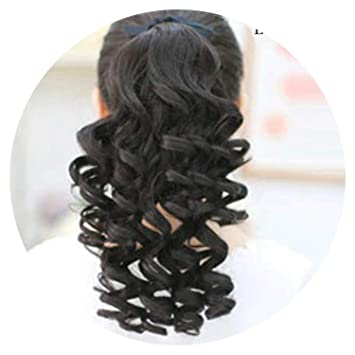 Amazon.com  world-palm Short Curly Ponytails Clip In Fake Hair Extensions  Natual Clip In Hair Tails Heat Resistant Synthetic Ponytail 671c1a2e5db6
