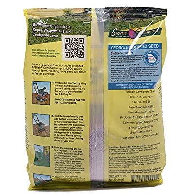 TifBlair Centipede Grass Seed (1 Lb.) Direct from The Farm: Home & Kitchen