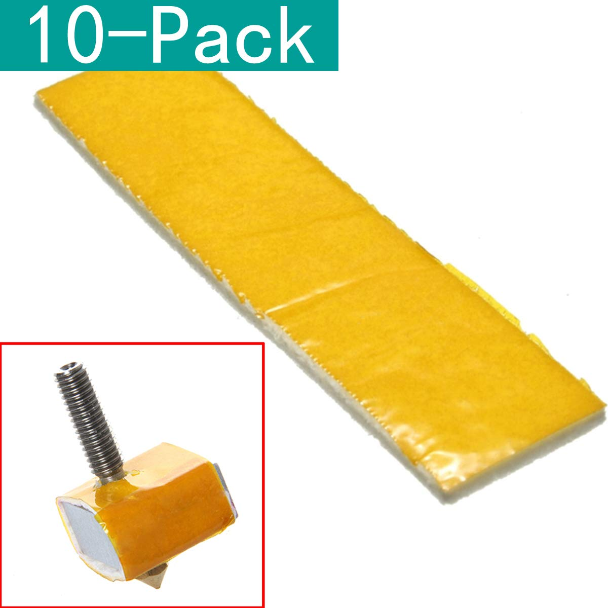 Youmile 10-Pack 3mm Thick Heating Block Cotton Nozzle Heat Insulation For 3D Printer