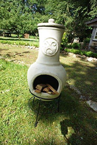 Antikas - chimenea de barro - chimenea decorativa para la terraza - chimenea Novela 90 - horno de barro: Amazon.es: Jardín