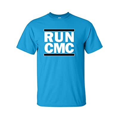 "The Silo BLUE Carolina McCaffrey ""RUN CMC"" T-Shirt"