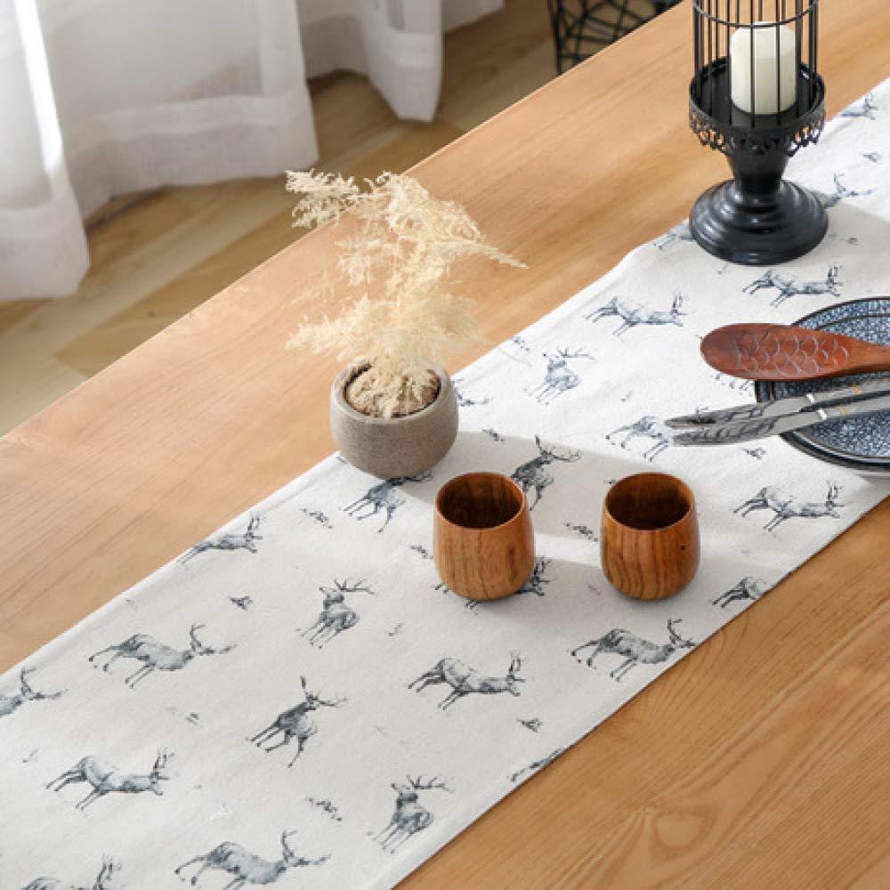 GongDi Dicker Doppeldecker Esstisch und Tischfahne Villa Esstisch Couchtisch kleine Tischdecke doppelseitig erhältlich Elch-Betttuch Heimtextilien, Bad- & Bettwaren Küchentextilien