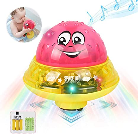 Children Bathing Ball Bath Light Floating Light Waterproof Colorful Light Toy ef