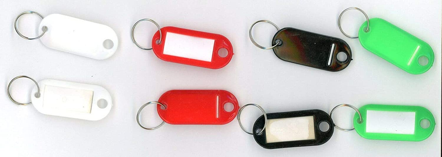 "KEY TAGS 8 white black red green Light Weight not bulky about 1 7//8/""x7//8/"" B-1-5"