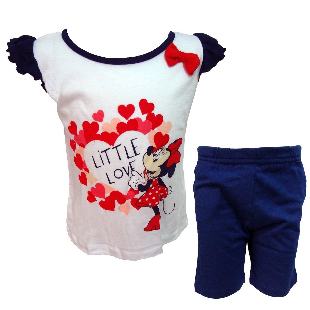 Disney completo neonata spalla larga pantaloncino MINNIE nuova collezione art. WD101319