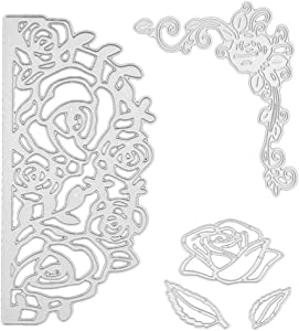 Cutting Dies Metal, Flower Metal Embossing Stencils for DIY Scrapbooking Photo Album Decorative DIY Paper Cards Making Gift Debossing Border
