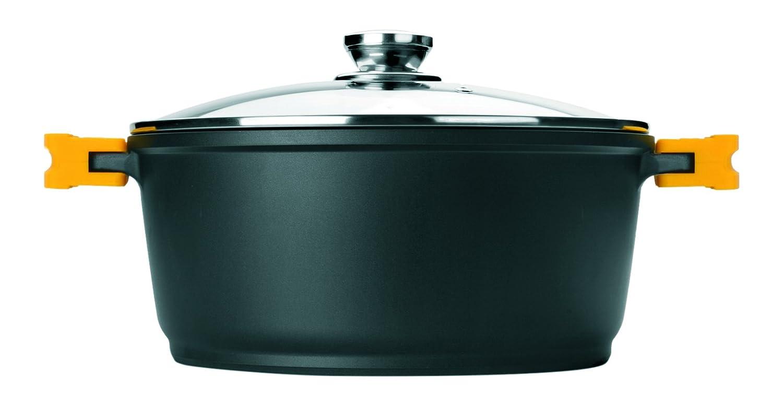 Ibili 461120 - Olla con tapa (Evolution aluminio fundido negro, forja, negro, 24 x 24 x 9 cm: Amazon.es: Hogar