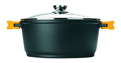 Ibili 461120 – Olla con tapa Evolution, aluminio fundido, forja, 28 x 28