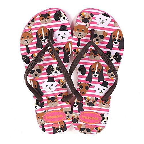 Havaianas - Sandalias de goma para mujer rosa rosa