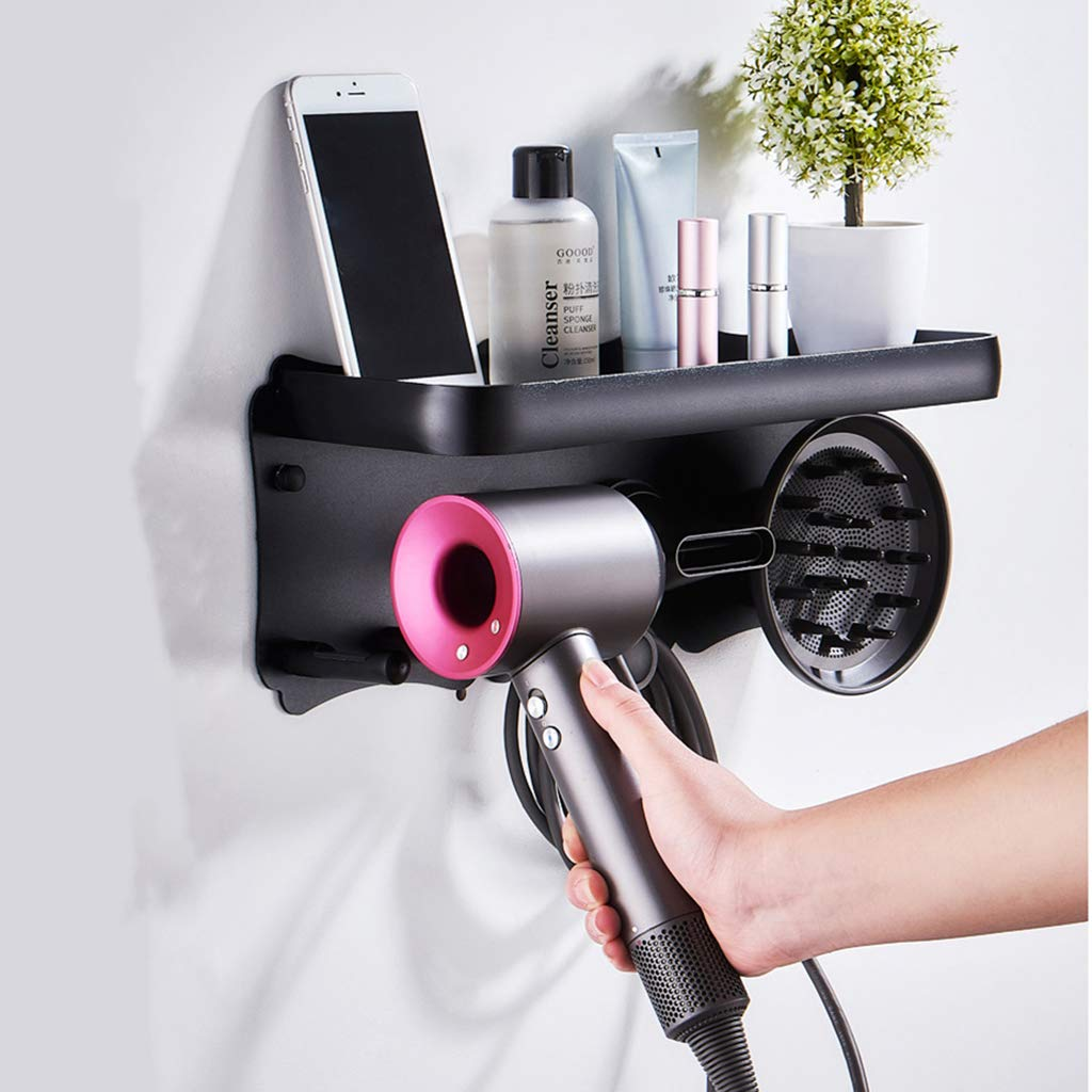 OldPAPA Hair Dryer Holder, Multifunctional Wall Mounted Hair Dryer Holder for Dyson Supersonic Hair Dryer