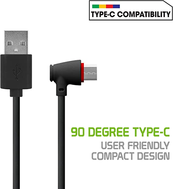 USB Type-C to USB Type-A Data Power Cable Black 3.3ft Round Pack of 4 Reinforced Ultra-Flexible Compatible with Asus ZonFone 5z