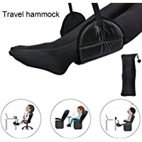 Placextre 1 Pcs Travel Airplane Footrest Hammock Comfy Hanger Portable for Desk Home Office