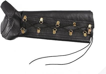Black KG Archery Leather Armguard Bracer