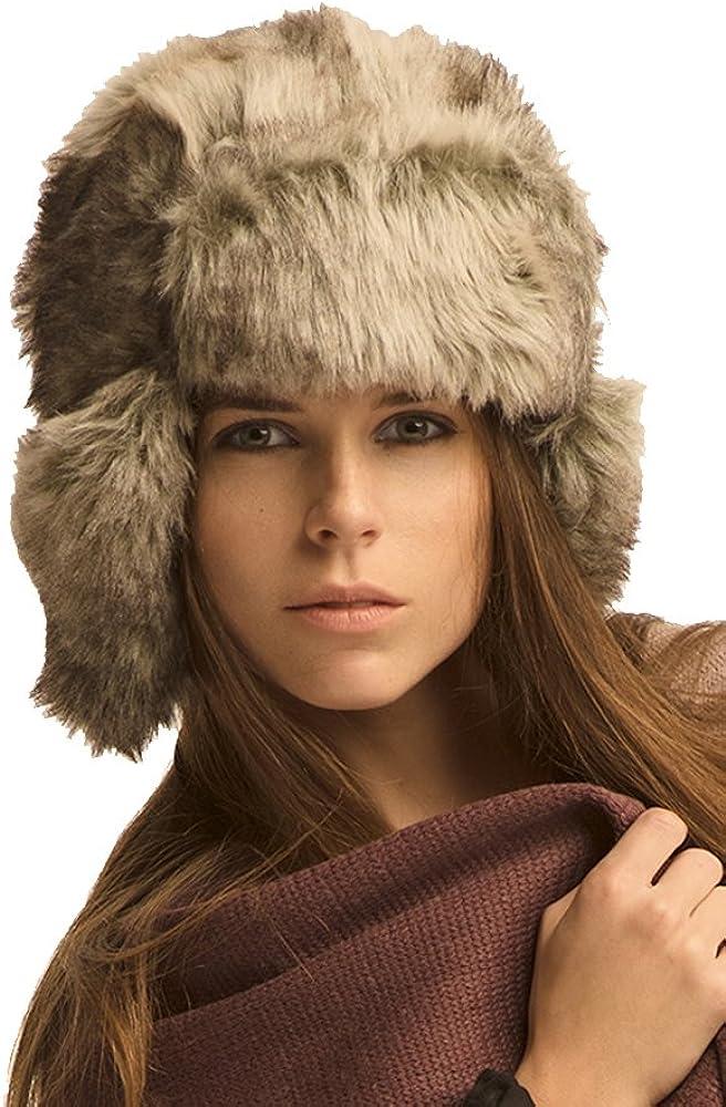 Womens Winter Trooper Trapper Hat Faux Fur Ear Flap Aviator Ushanka BSB LL