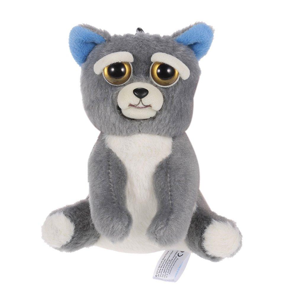 Goolsky Feisty Pets Mini Dog Sammy Suckerpunch Llaveros Adorable felpa de peluche se convierte en Feisty con un apretón: Amazon.es: Juguetes y juegos