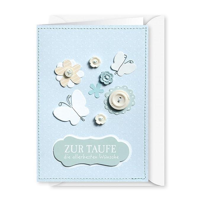 Knopfkarte 35 Zur Taufe Die Allerbesten Wünsche