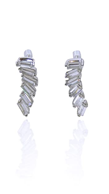 707b8c5a8 Beaute Fashion Ear Crawler Sterling Silver Cubic Zirconia Earrings - Gift  Boxed GREAT GIFT with BONUS