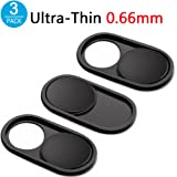 CloudValley Webcam Cover Metal Slider by, 0.66mm Ultra-Thin Slide Web Camera Cover for Macbook Pro, Laptop, Mac, PC, Surfcase Pro, iPhone, Protecting Your Digital Life[3 PACK]