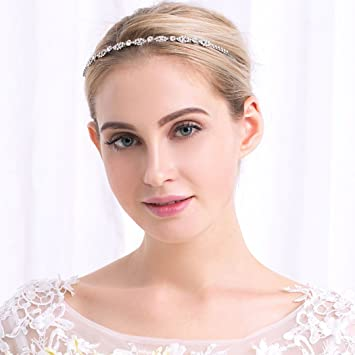 Amazon.com   Jovono Wedding Headbands Bridal Hair Accessories for Women and  Girls   Beauty 45806c952f4