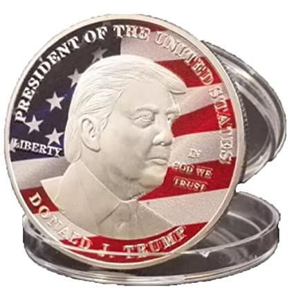 Trump Conmemorative Coins, AmaMary 2017 donald Trump silver Eagle coin make America GREAT Again 45th President
