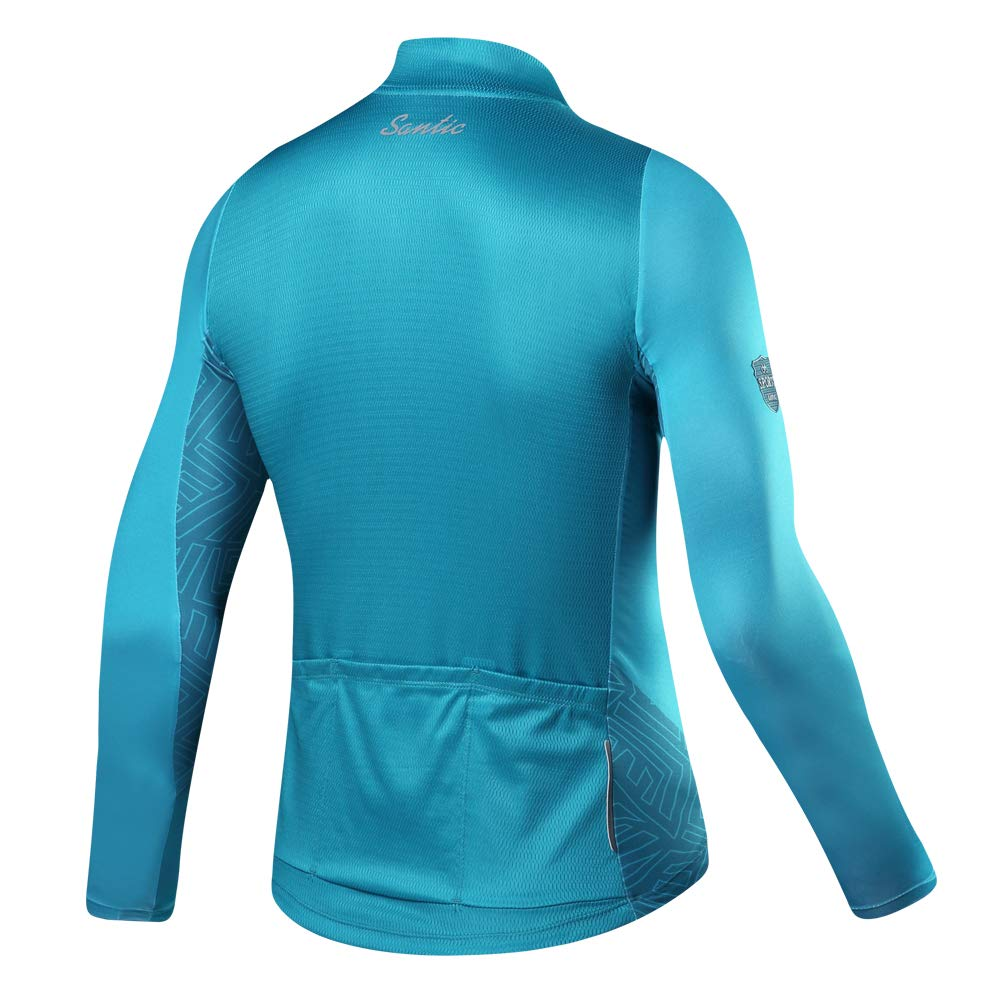 Santic Men s Long Sleeve Cycling Jersey Bicycle Jacket Pockets Full Zipper  Bike Biking Shirts a09e063d6