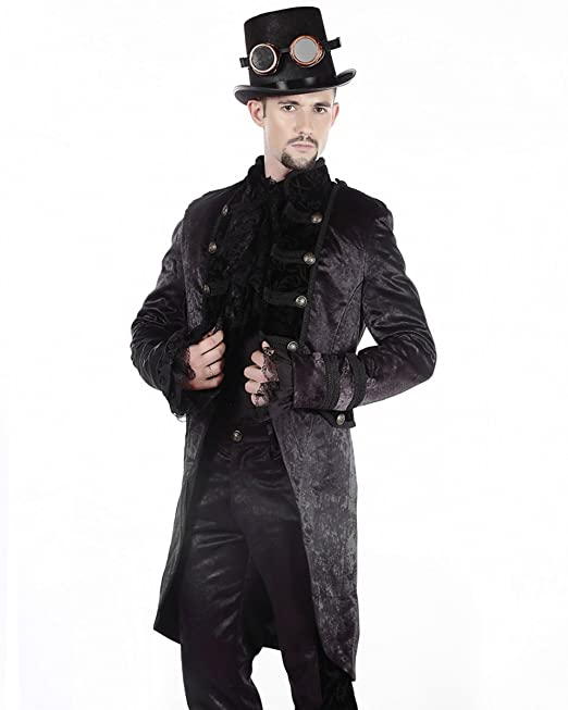 Matrimonio In Frac : Pentagramme gotico steampunk frac mattina giacca nero vtg vittoriano