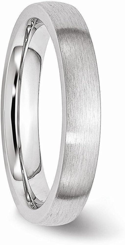 Diamond2Deal Cobalt Satin 4mm Wedding Band Fine Jewelry Ideal Gifts for Women