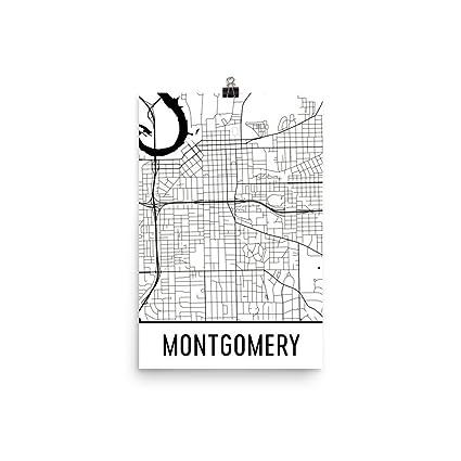 Amazon.com: Montgomery Print, Montgomery Art, Montgomery Map ...