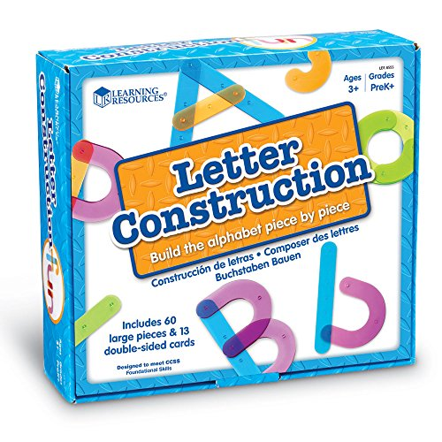 Learning Resources Letter Construction, School Activity Set, Play School, 60 Pieces, Ages 3+