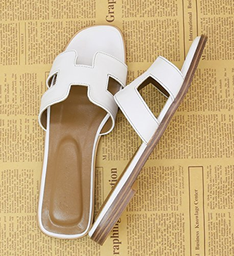 Respeedime Slippers Female Summer Fashion Travel Cool Flat Beach Shoes Sandals White 2spgmmxYS