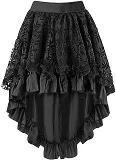 2c1f76dfa3 Y Fashion Womens Steampunk Skirt Victorian Asymmetrical High Low Dress