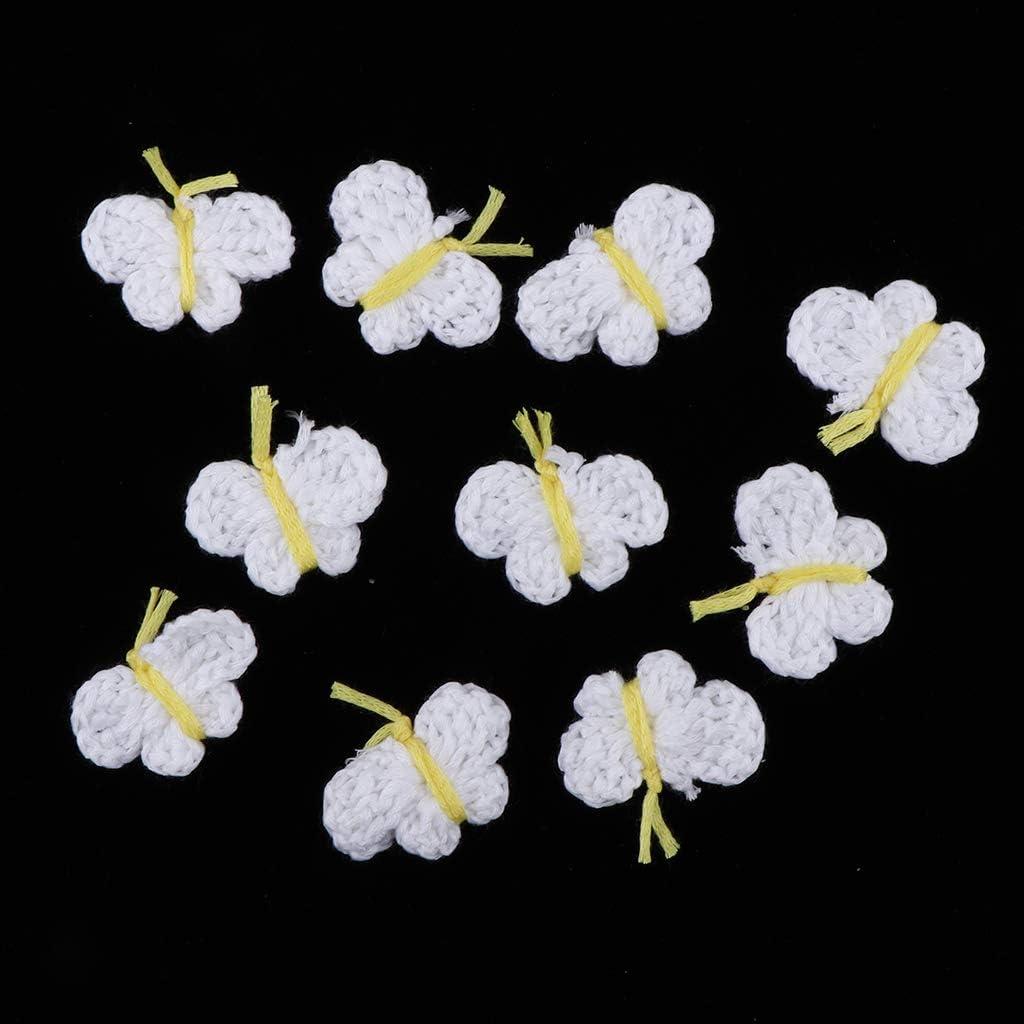 F Fityle 10er//Set H/äkel-Blumen H/äkelblumen Applikation Schmetterling N/ähen zum Verzieren von Kleidern Spielzeug Blau Puppen Farbwahl