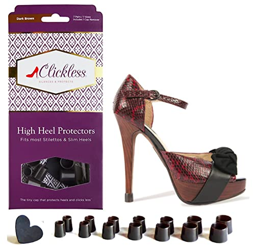 6d25e519f08 CLICKLESS High Heel Protectors - Heel Caps - 7 Pairs/7 Sizes - For  Stilettos and Slim Heels