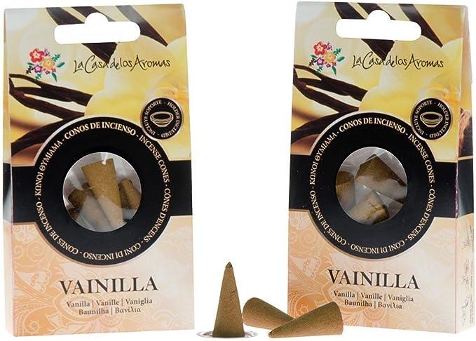 Pack 12 conos incienso Vainilla: Amazon.es: Belleza