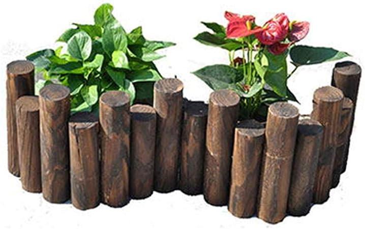 LJFYMX Vallas de Madera Jardin Valla enchufable/Cerca de jardín/jardín de Madera en Forma de jardín Miniatura en Miniatura, Maceta, decoración de Plantas Vallas para Jardin (Size : 90 * 35/40cm): Amazon.es: Hogar