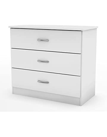 South S Drawer Dresser Pure White With Metal Handles In