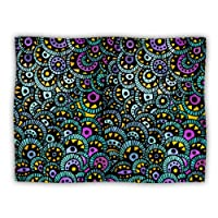 """Kess InHouse Pom Graphic Design """"Peacock Tail"""" Pet Dog Blanket, 60 by 50-Inch"""