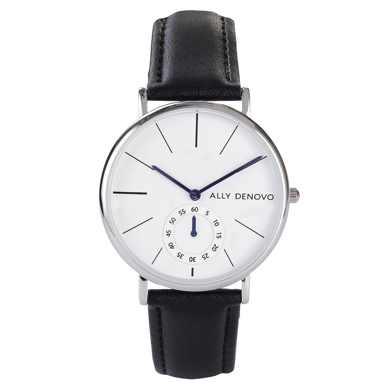[アリーデノヴォ] ALLY DENOVO 腕時計 Heritage Small Eye 36mm シルバー メンズ レディース ウォッチ AF5001-1 B01M8M7620