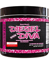 GET Diesel Womens Preworkout Diesel Diva with no Artificial Flavors or Artificial Colors 330g (Fruit Punch)