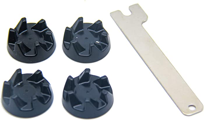 9704230 Blender Coupler 4Packs with 1 Spanner Kit Replacement for Kitchenaid Blender Replacement Parts WP9704230VP WP9704230 KSB5WH KSB5WH4 KSB5 KSB3 Driver PS11746921 AP6013694 AP2930430 PS401661