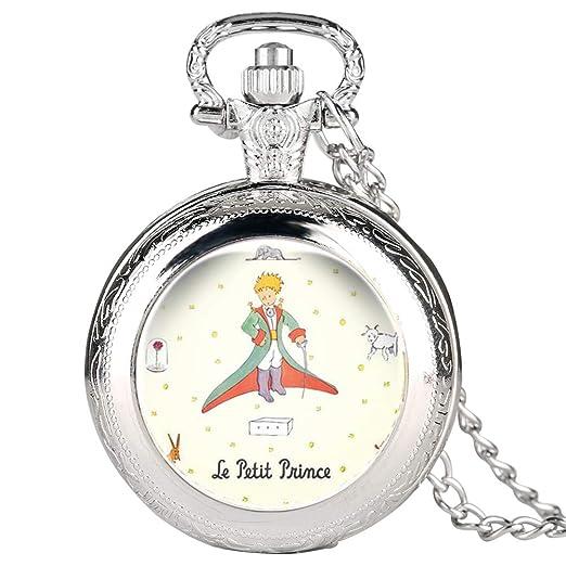 Reloj de Bolsillo Plateado para Hombre, diseño de Bolsillo para niños, Reloj de Bolsillo Digital arábigo para Adolescentes: Amazon.es: Relojes