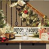 Eldnacele Christmas Snow Globe Lantern Spinning